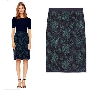 Tory Burch Fishnet lace Pencil Skirt blue wisteria